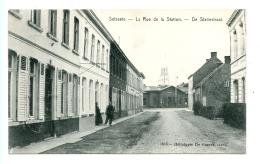 Selzaete - La Rue De La Station - De Statiestraat / STAR De Graeve 1916 (1909) - Zelzate