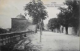 CPA - FRANCE - Uzès Est Situé Dans Le Départ. Du Gard - Promenade Des Marronniers - Pavillon Racine - Daté 1906 - TBE