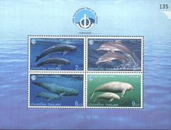 Thailand 1998 Dolphins, Fish, International Year Of Ocean M/Sheet MNH (M-357)