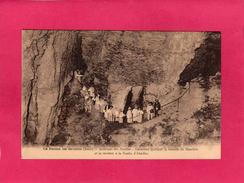 38 ISERE, LA-BALME-LES-GROTTES, Intérieur Des Grottes, Animée, 1926, (Thiriat, Basuyau) - La Balme-les-Grottes