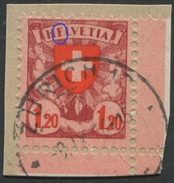 1643 - 1.20 Fr. Wappenschild - Abart HFLVETIA Auf Briefstück - Variétés