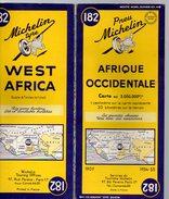 Carte Géographique MICHELIN - N° 182 AFRIQUE OCCIDENTALE - 1954 - Cartes Routières