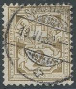 1644 - 2 Rp. Wertziffer - Weisses Papier Mit Vollstempel - SBK CHF 550.00 - 1882-1906 Armoiries, Helvetia Debout & UPU