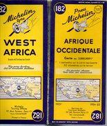 Carte Géographique MICHELIN - N° 182 AFRIQUE OCCIDENTALE - 1954 - Roadmaps