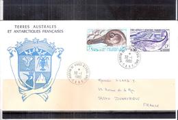 Lettre Des Terres Australes Et Antarctiques Françaises Vers Dunkerque - Albatros Et Saumon - Série Complète (à Voir) - Terres Australes Et Antarctiques Françaises (TAAF)