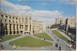 INGHILTERRA - WINDSOR CASTLE - VIAGGIATA 1960 FRANCOBOLLO ASPORTATO - Windsor Castle