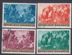 Rwanda N° 205 / 12 X, O Tableaux De Maîtres Divers Les 8 Valeurs Trace De Charnière Ou Oblitérations Légères Sinon TB - Rwanda