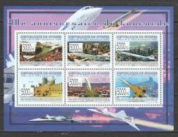 Guinee 2009 Kleinbogen Mi 6602-6607 MNH AVATION - 40 YEARS CONCORDE - Concorde