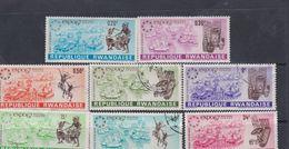 Rwanda N° 219 / 22 X, O Expo Intern. De Montréal, Les 8 Valeurs Trace De Charnière Ou Oblitérations Légères Sinon TB - Rwanda