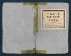 Plan Du Métro Parisien, Année 1944 - Europe