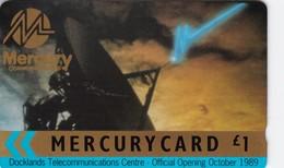 Mercury, MER033, Docklands Telecommunications Centre, Unused, 2 Scans    18MERC