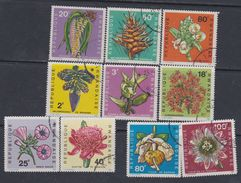 Rwanda N° 253 / 62 O  Fleurs Divers, Les 10 Valeurs Oblitérations Légères Sinon TB - Rwanda