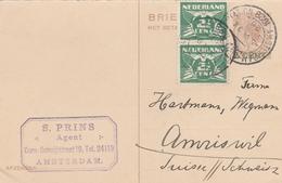 Niederlande-Ganzsache Mit Zusatzfrankatur. - Postal Stationery