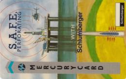 Mercury, MER145, Schlumberger - S.A.F.E.Oil Rig, Helicopter, Mint, 2 Scans  CN : 20MERD