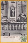 1910 - CP  De St Croix, Antilles Danoises Vers Milan, Italie  - Affrt  YT 36 - 5 Bit Vert  - Vue église Catholique
