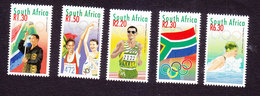 South Africa, Scott #1160-1164, Mint Hinged, Olympics, Issued 2000 - South Africa (1961-...)
