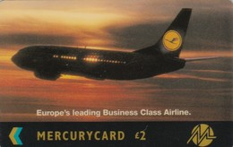 Mercury, MER499, Lufthansa, Airplane 1993, 2 Scans.  20MERC/W