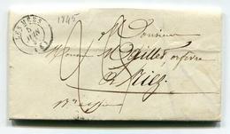 !!! MARQUE POSTALE DES MEES (ALPES DE HAUTES PROVENCE) DE 1845 AVEC TEXTE - Marcophilie (Lettres)