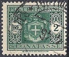 Italia, 1945 Stemma Senza Fasci, 2L Verde Senza F # Michel 59 - Scott J50 - Sassone Tx93 - 5. 1944-46 Lieutenance & Humbert II:
