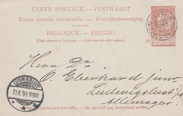 Belgien-Ganzsache 1899 - Postcards [1871-09]