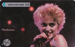 Paytelco, PYPS004, Popstars, Madonna, Unused, 2 Scans.  NB : No Control