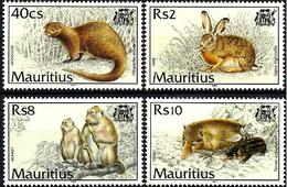MAURITIUS 1994 Mammals, Animals, Monkeys, Hare, Fauna MNH - Mauricio (1968-...)