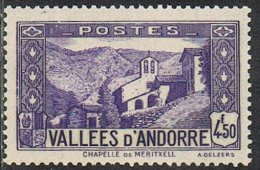 Andorra (French POs) SG F74 1942 Definitive 4f.50 Unmounted Mint [30/27134/7D] - Neufs