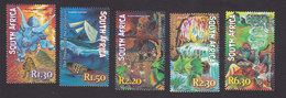 South Africa, Scott #1236-1240, Mint Hinged, Myths And Legends, Issued 2001 - Unused Stamps