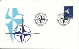 Denmark FDC 16-3-1989 NATO With Cachet