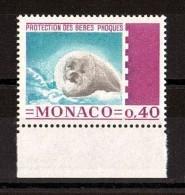 1970 - Oiseaux - Monaco - N° 815 - Neuf ** - Protection Des Bébés Phoques - Marine Mammals