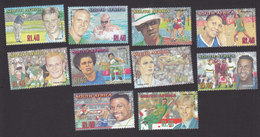 South Africa, Scott #1242-1251, Mint Hinged, Athletes, Issued 2001 - South Africa (1961-...)