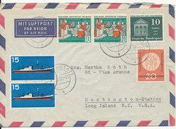 Germany Air Mail Cover Sent To USA Rastatt 3-8-1957 - [7] Federal Republic