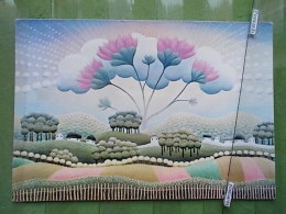 Kov 1012 - IVAN RABUZIN, CRVENI CVIJET, RED FLOWERS, INTERNATIONAL FUND HUNGRY CHILD - Peintures & Tableaux