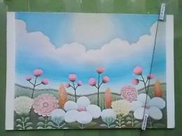 Kov 1012 -  IVAN RABUZIN, CVJETNI PEJZAZ, LANDSCAPE, FLOWERS, INTERNATIONAL FUND HUNGRY CHILD - Peintures & Tableaux
