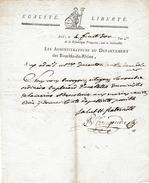 Révol. 4 Fructidor An 4- AIX (13) - Envoi En Placard D'une Lettre Du Ministre De La MARINE Et Des COLONIES - Documents Historiques