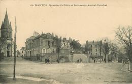 Dép44 - Chemins De Fer - Tramways - Tramway Petit Plan - Nantes - Quartier Saint Félix Et Boulevard Amiral Courbet -état - Nantes