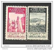 MA305-L28461TFSC.Marrucos.Maroc.Marocco.MARRUECOS  ESPAÑOL. 1949 (Ed 305/6**)sin Charnela. - Fiestas