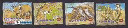South Africa, Scott #1252-1255, Mint Hinged, Kgalagadi Transfrontier Park, Issued 2001 - South Africa (1961-...)
