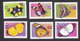 South Africa, Scott #1230-1235, Mint Hinged, Butterflies, Issued 2001 - South Africa (1961-...)