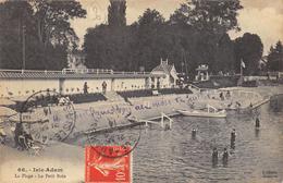 CPA 95 L ISLE ADAM LA PLAGE LE PETIT BAIN 1914 - L'Isle Adam