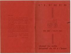 1965 Musée D'automobiles Anciennes De CLERES(76) Déjeuner Souvenir En Mémoire De DELAMARE-DEBOUTTEVILLE Et MALANDAIN - Publicités