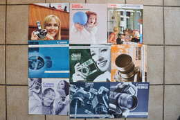 LOT DE 9 PUBLICITES CANON  ANNEES 1970 - Publicités