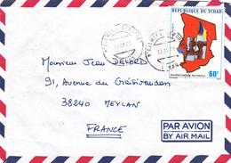 BELLE LETTRE PAR AVION DE TCHAD VERS FRANCE - Tschad (1960-...)
