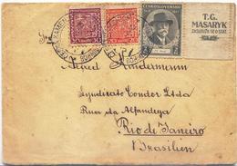 X1254-Czechoslovakia-Cover From Kamenice (Kamnitz) To Rio, Brazil-1938