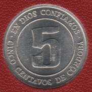 NICARAGUA 5 CENTAVOS 1974 FAO KM# 28 - Nicaragua