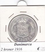 DANIMARCA   2  KRONER  1916  COME DA FOTO - Denemarken