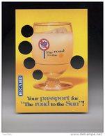 1 Carte Publicité Ricard (Belgique) Alcool Carte à Trous - Reclame