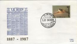 BELGIQUE 2271 FDC Enveloppe Du Centenaire Du Journal Le Soir TINTIN HERGE KUIFJE COMICS BD 5 Fayt-Lez-Manage - Comics