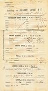 151/25 - BELGIQUE TOPIC OIL - PETROL  - Imprimé TP Lion 5 C ANVERS 1886 Vers Allemagne - Usines & Industries