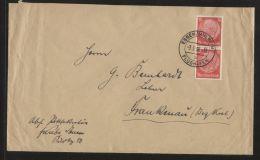 """Dt. Reich - 12 Pf Hindenburg Als MeF Auf Fern-Brief  - Gelaufen Mit Stempel """"ESSEN/MÜLHEIM FLUGHAFEN"""" 3.5.1938 - Deutschland"""